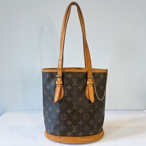 Louis Vuitton Vintage Monogram Bucket Tote Bag